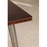 LIX houten tafel geborsteld staal (80x80), miniatuur afbeelding 3
