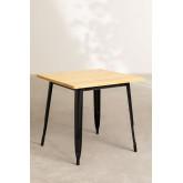LIX Vintage houten tafel (80x80), miniatuur afbeelding 2