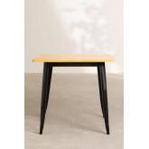 LIX Vintage houten tafel (80x80), miniatuur afbeelding 3