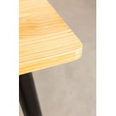 LIX Vintage houten tafel (80x80), miniatuur afbeelding 4
