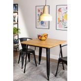 LIX Vintage houten tafel (80x80), miniatuur afbeelding 1