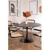 Ronde eettafel in Tuhl-stijl van MDF en metaal , miniatuur afbeelding 1
