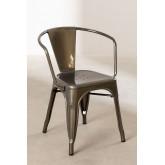LIX stoel geborsteld staal met armleuningen , miniatuur afbeelding 2