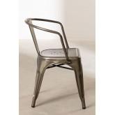 LIX stoel geborsteld staal met armleuningen , miniatuur afbeelding 3