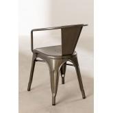 LIX stoel geborsteld staal met armleuningen , miniatuur afbeelding 4