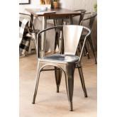 LIX stoel geborsteld staal met armleuningen , miniatuur afbeelding 1