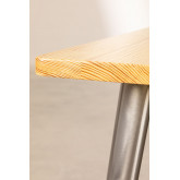 LIX houten tafel geborsteld staal (120x60), miniatuur afbeelding 3