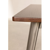 LIX houten tafel geborsteld staal (120x60), miniatuur afbeelding 4