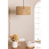 Plafondlamp in rotan Serri, miniatuur afbeelding 1