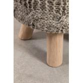 Rixar lage ronde kruk van wol en hout , miniatuur afbeelding 5