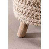 Ronde kruk van wol en hout Jein, miniatuur afbeelding 5