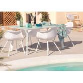 Adel-tafel en 4 tuinstoelen met Adel-armenset, miniatuur afbeelding 1