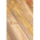 Rechthoekige houten eettafel (200x91cm) in Nathar-stijl, miniatuur afbeelding 6