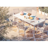 Starmi Uitschuifbare tafelset (180 - 240 cm) & 6 Eika tuinstoelen, miniatuur afbeelding 1