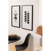 Set van 2 decoratieve afbeeldingen (50x70 cm) Piet, miniatuur afbeelding 1