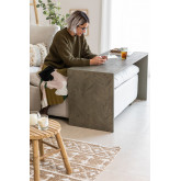 Belah Elm Wood Sofa tafel, miniatuur afbeelding 1