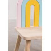 Mini Rainbow Kids houten stoel, miniatuur afbeelding 6