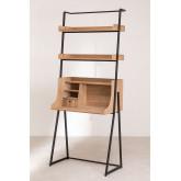 Bureau met planken in MDF en metalen Valar, miniatuur afbeelding 2