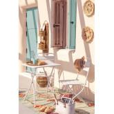 Janti opklapbare tafelset (60x60 cm) & 2 Janti opklapbare tuinstoelen, miniatuur afbeelding 1