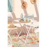 Opklapbare stalen tuintafel (60x60 cm) Janti , miniatuur afbeelding 1