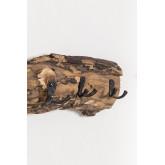 Trunc wandkapstok van gerecycled hout, miniatuur afbeelding 979318