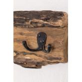 Trunc wandkapstok van gerecycled hout, miniatuur afbeelding 979324