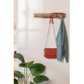 Trunc wandkapstok van gerecycled hout, miniatuur afbeelding 979342