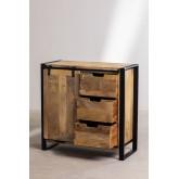 Kiefer houten kledingkast, miniatuur afbeelding 3