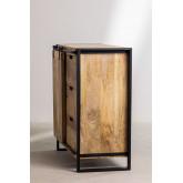 Kiefer houten kledingkast, miniatuur afbeelding 5