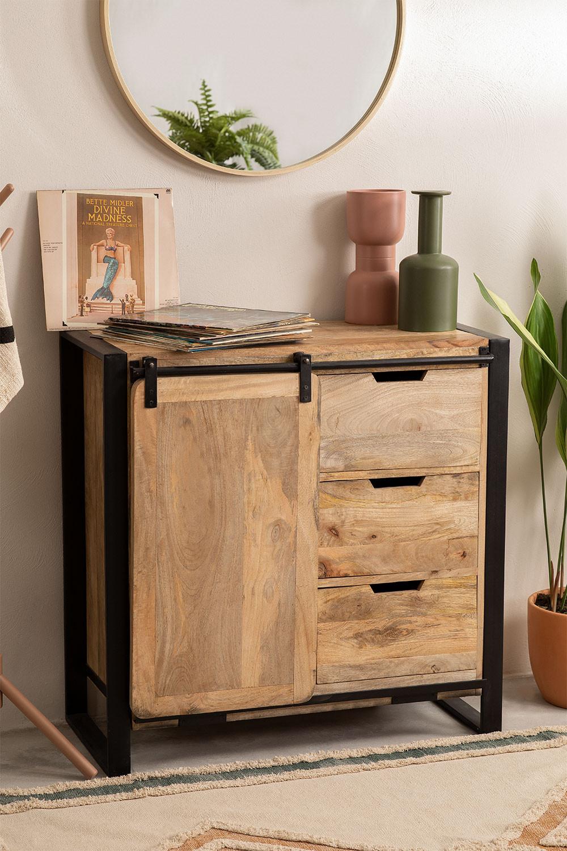 Kiefer houten kledingkast, galerij beeld 1
