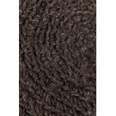 Rixar lage ronde kruk van wol en hout , miniatuur afbeelding 4