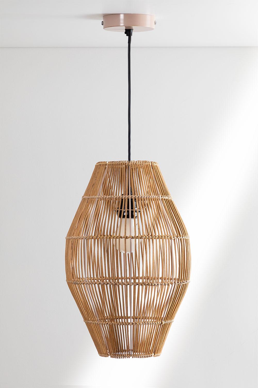 Khumo bamboe plafondlamp, galerij beeld 1
