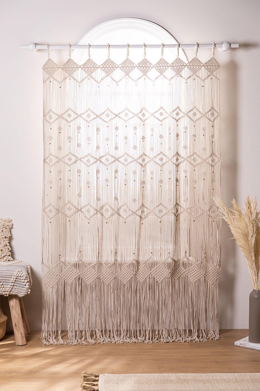 Macramé gordijn (215x110 cm) Luana, galerij beeld 1