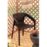 Buitenstoel met armleuningen Frida, miniatuur afbeelding 1