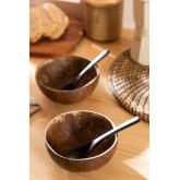 Set van 2 Coconut Bowls en 2 Island Lepels, miniatuur afbeelding 6