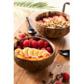 Set van 2 Coconut Bowls en 2 Island Lepels, miniatuur afbeelding 1