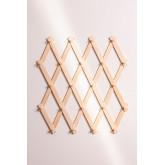 Ixi dubbele houten wandkapstok, miniatuur afbeelding 3