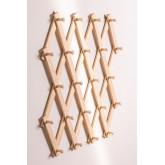 Ixi dubbele houten wandkapstok, miniatuur afbeelding 4