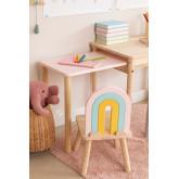 Mini Rainbow Kids houten stoel, miniatuur afbeelding 2
