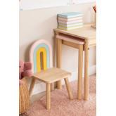 Mini Rainbow Kids houten stoel, miniatuur afbeelding 1