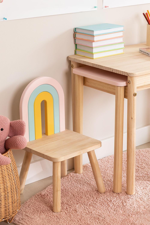 Mini Rainbow Kids houten stoel, galerij beeld 1