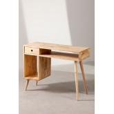 Arlan houten opbergbureau, miniatuur afbeelding 4