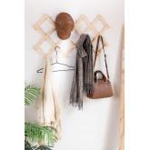 Ixi dubbele houten wandkapstok, miniatuur afbeelding 1