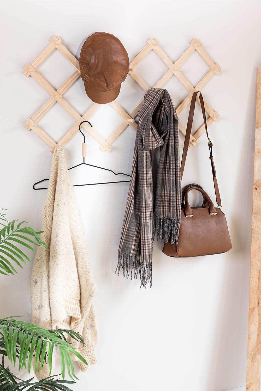 Ixi dubbele houten wandkapstok, galerij beeld 1