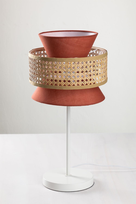 Tafellamp in rotan Yereh, galerij beeld 1