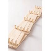 Ixi dubbele houten wandkapstok, miniatuur afbeelding 6