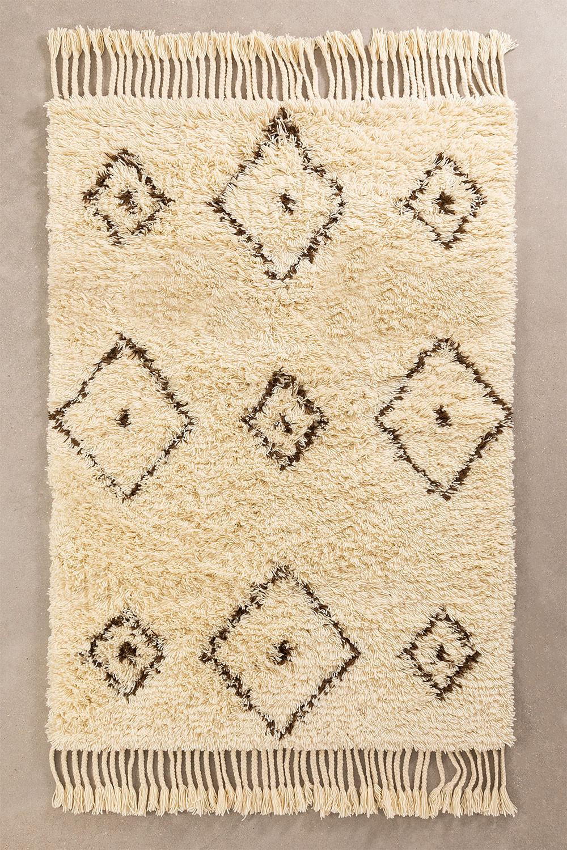 Tapijt van katoen en wol (215x125 cm) Ariana, galerij beeld 1
